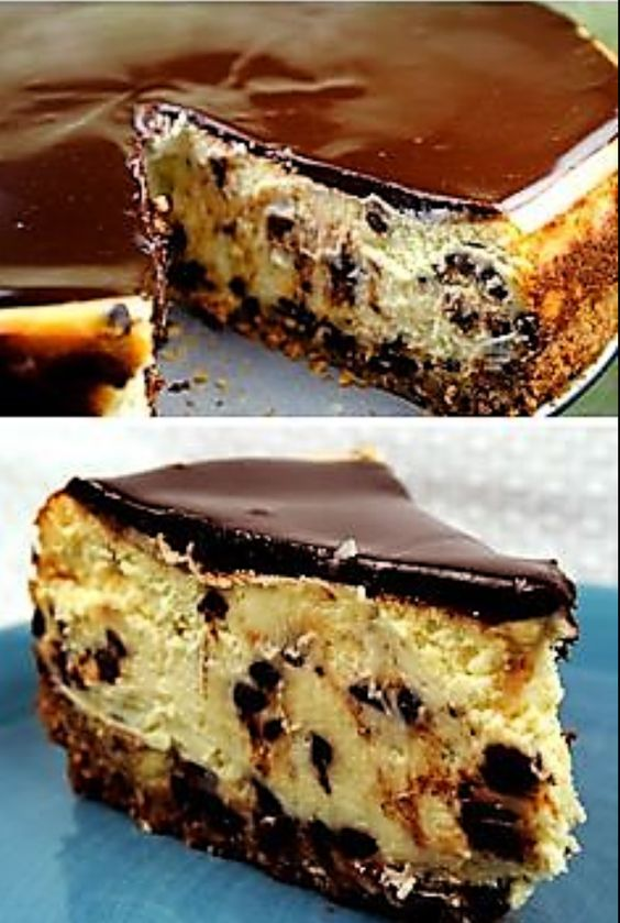 Chocolate Chip Cheesecake | CookJino