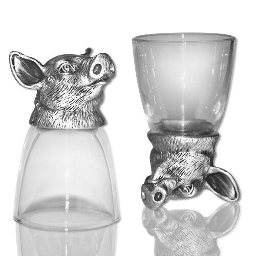 Animal Head Shot Glasses - Domestic Animals