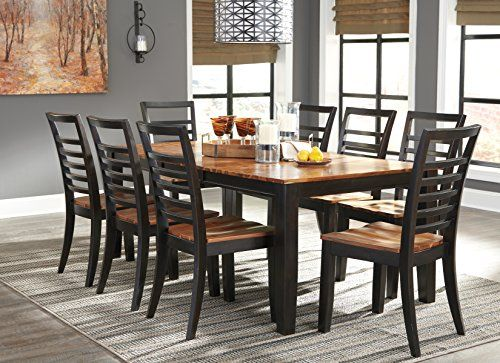 Furnituremaxx Quanley Formal Two Tone Brown Wood Dining Set Extension Table With 8 Chairs Dining Room Table Dining Room Server Dining Room Suites