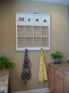 Not Just Decorating: Thrifty DIY Menu Board