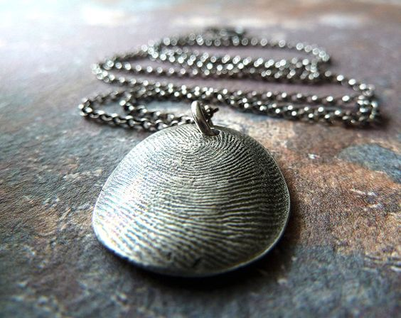 Your Own Fingerprint Necklace. Personalized by RenataandJonathan