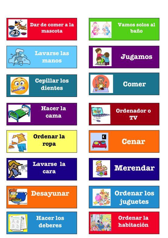 Calendario De Rutinas Para Casa Tabla De Tareas Para Niños Recompensas Para Niños Horario Para Niños