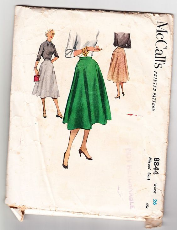 Vintage 1952 McCall's 8844 Sewing Pattern by SewUniqueClassique
