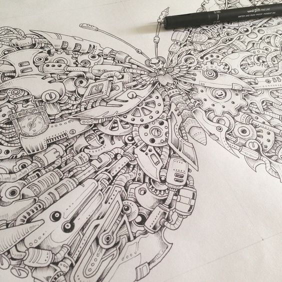 Shading the first page imagimorphia kerby rosanes for Imagimorphia coloring pages