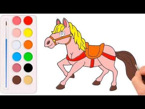 تعليم الرسم للاطفال كيفية رسم الحصان Drawing And Coloring