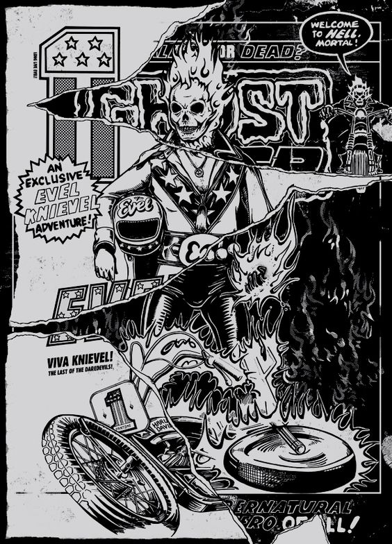 Evel Rider by Adam Fantome, via Behance