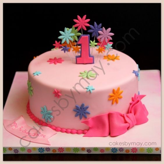 Kid birthday cakesImages of girls  Girls 1st birthday cake and Birthday cakes on  . Easy First Birthday Cake Girl. Home Design Ideas