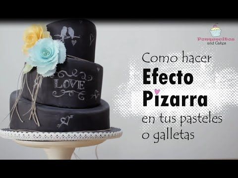 efecto pizarra para tartas o galletas tutoriales de sugartcraft