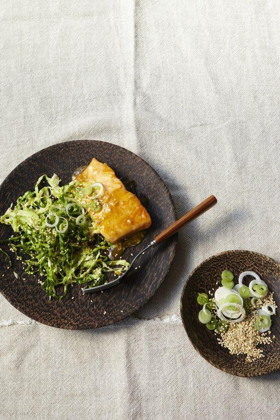 Paleo Honey Glazed Salmon with Ginger. A simple-Asian inspired glaze ...