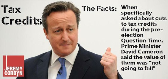 The facts on the tax credit cuts #WorkingPenalty: @David_Cameron said the value of them was not going to fall.