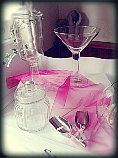 #Glassware we use for the #candy buffet #sweetcart