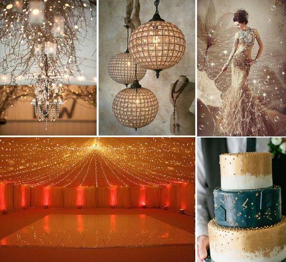 Star Night Wedding Theme: Gold Starry Night Wedding Theme