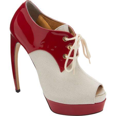 Walter Steiger Peep Toe Lace-Up Platform Oxford Sale up to 70% off at Barneyswarehouse.com