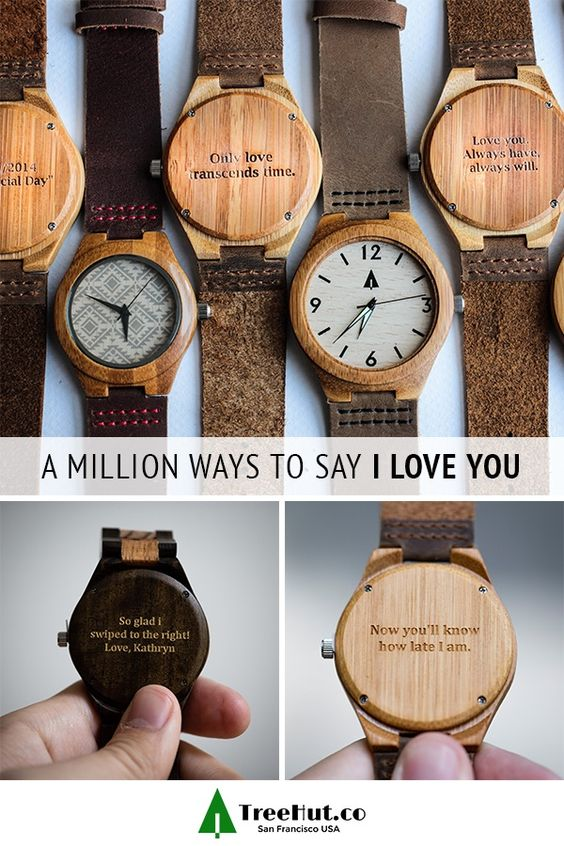 Save 20% off for our Father's Day Sale! We all have different ways of showing our love. TreeHut watches let you engrave your own special message on the back of every watch.  Choose from canvas, stainless steel and wood watch straps to create a handmade and completely versatile watch they'll love almost as much as they love you.