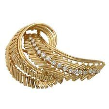 CARTIER Vintage French Cartier Gold and Diamond Brooch