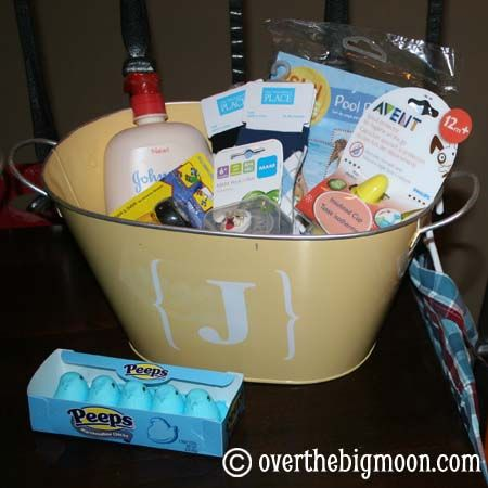 Easter baskets -  kids really don't need any new toys so keep a list the weeks leading up to Easter of things that they are going to need soon and then that is what to fill their baskets with!.