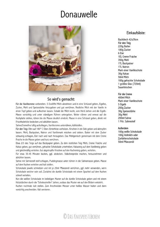 Donauwelle - Chocolate Vanilla Cake With Cherries | Das Knusperstübchen
