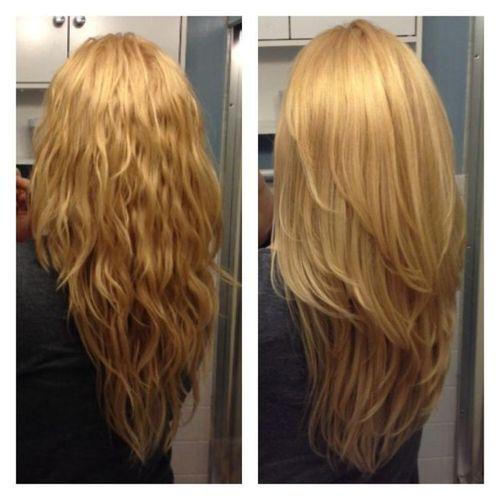 Coupe de cheveux en v Coupes en v and Cheveux longs dgrads on