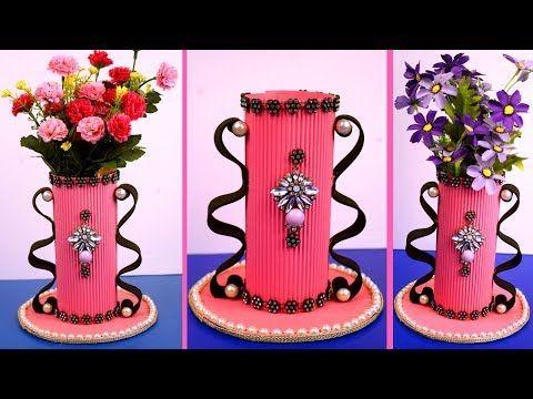 Making Paper Flower Vase How To Make A Flower Vase At Home Diy