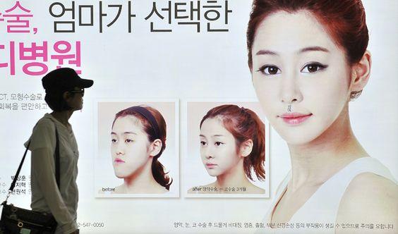 Phẫu thật thẩm mỹ là chuyện thường thấy ở Hàn Quốc