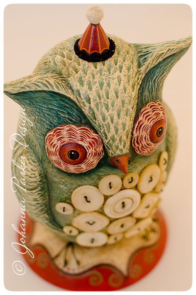 Belly-Button-Original-Owl by Johanna Parker Design, via Flickr: