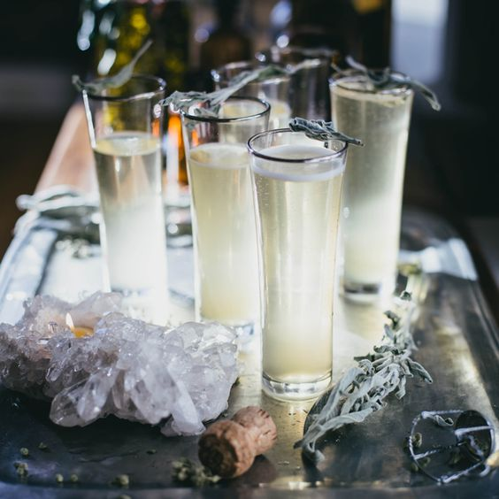 Sage Ginger Prosecco cocktail recipe.