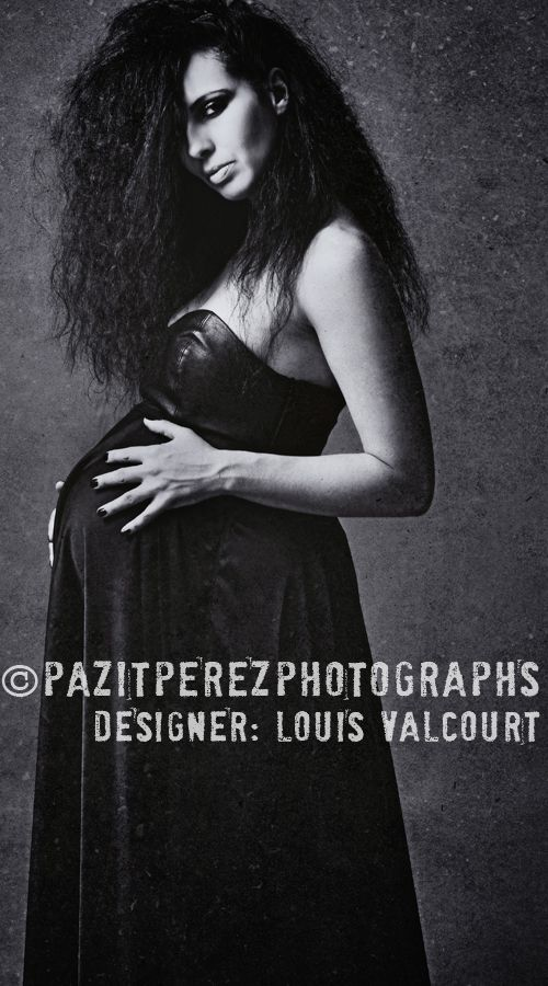 I would like to share  some  photos of a wonderful photo-shoot I had with an Edgy Pregnancy Clothing designer by the name of  Louis Valcourt. She is an upcoming designer ,who in my opinion is going to rock the pregnancy world with her talent and her fabulous design collection.