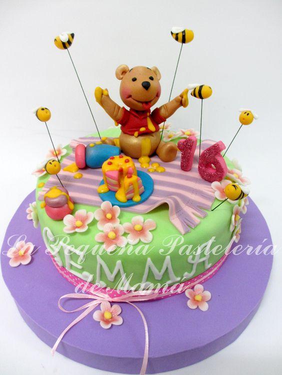 Tarta de cumpleaños de Winnie de Pooh TARTAS INFANTILES DE LA PEQUE u00d1A PASTELER u00cdA DE MAMÁ