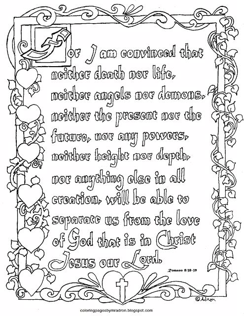 Old Fashioned Romans 8 28 Coloring Page Vignette - Examples ...