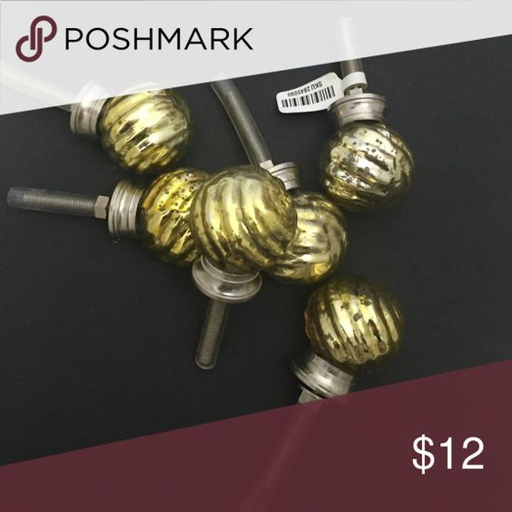 Glass knobs Cabinet gold knobs Pier1 imports Accessories