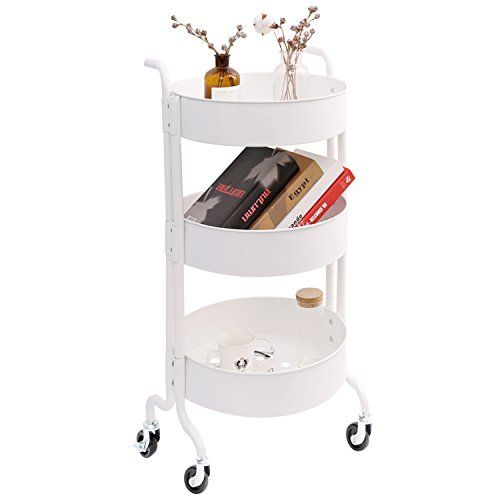 3 Tier Metal Utility Rolling Cart With Wheels Round Stor Https Www Amazon Com Dp B07db5b1q7 Ref Cm Sw R Pi Dp U X Rolling Cart Kitchen Gadgets Home Decor 3 tier cart with wheels