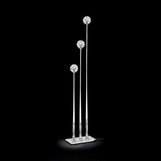 3 Lichts Vloerlamp Sfera Met Transparante Voet Lampen