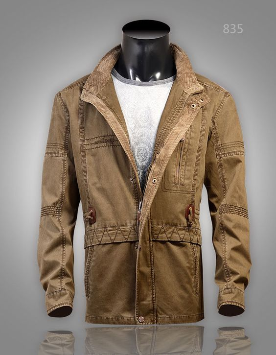 New Mens Military style PARKA Jacket | Mother of all Wardrobes ...