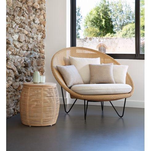 Vincent Sheppard Vivi Rattan Side Table 37cm Contemporary Living