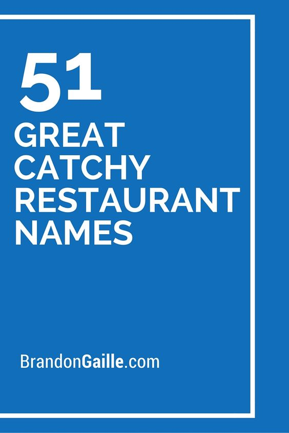 Italian Food Restaurant Names: List Of 51 Great Catchy Restaurant Names