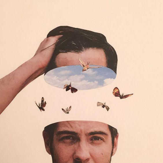 """Adam Hale es un artista británico dedicado al collage que explica que todo su trabajo está realizado a mano, utilizando """"London's free magazines"""" de las que toma imágenes fuera de contexto y las ensambla, creando magníficas composiciones."""