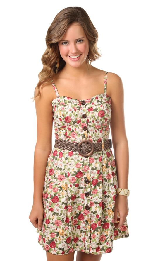 Deb Shops floral printed spaghetti strap corset style casual ...