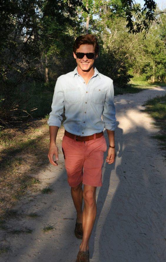 Blue Shirt Red Shorts