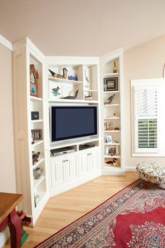 Corner Media Cabinet Design Ideas, Pictures, Remodel, and Decor - page 2