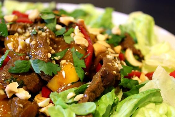 Mango Beef Stir Fry . . . Sweet and Spicy, Colorful and Healthy!