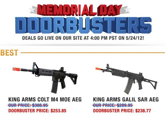 memorial day sale guns