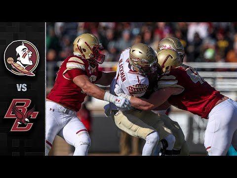 Florida State Vs Boston College Football Highlights 2019 Youtube Football Highlight Boston College College Football