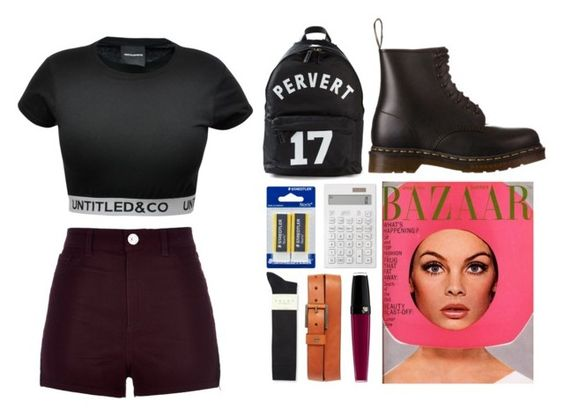 """""""3.022"""" by katrina-yeow ❤ liked on Polyvore featuring Givenchy, River Island, CO, Dr. Martens, Falke, Nixon, Muji and Lancôme"""