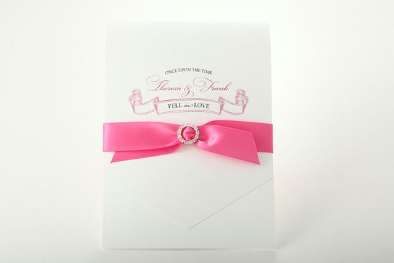 A more simple but also gorgeous and sweet fairytale invitation from Etsy seller…