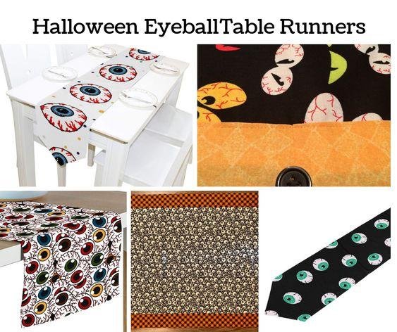 Halloween Eyeball Table Runners