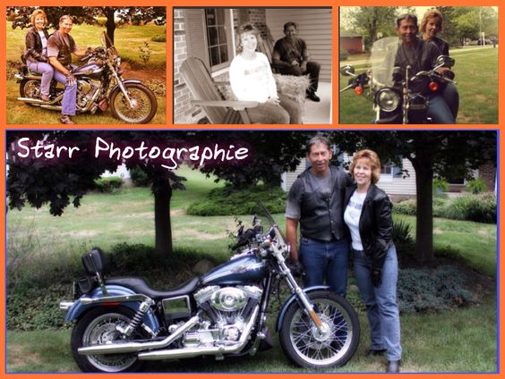 C•L Harley collage. Starr Photographie