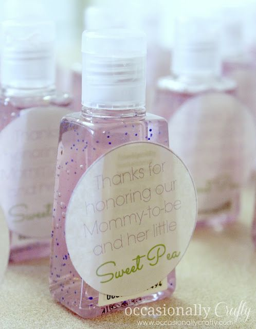 baby shower favors pocketbacs from bath and body works