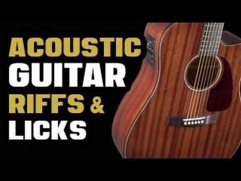 Acoustic Guitar Riffs Licks Guitar Learn Guitar Acoustic Guitar Lessons