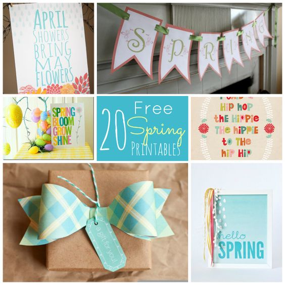 20 Free Spring Printables!! By tatertotsandjello.