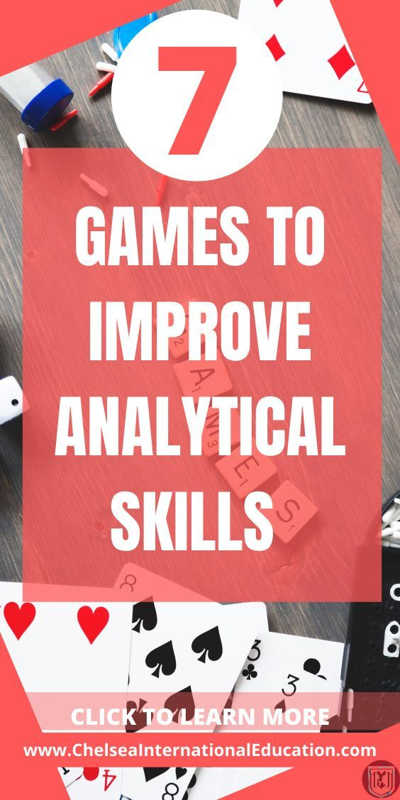 7 Games To Improve Analytical Skills High School Science Activities Middle School Science Activities For Teens